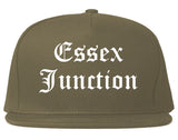 Essex Junction Vermont VT Old English Mens Snapback Hat Grey