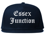 Essex Junction Vermont VT Old English Mens Snapback Hat Navy Blue