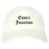 Essex Junction Vermont VT Old English Mens Dad Hat Baseball Cap White