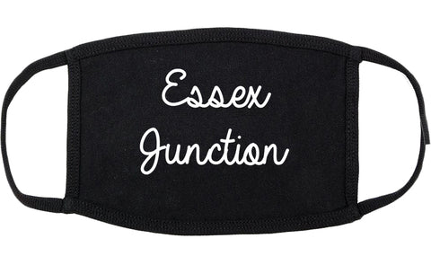 Essex Junction Vermont VT Script Cotton Face Mask Black