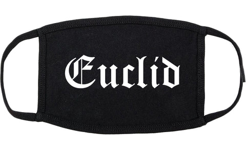 Euclid Ohio OH Old English Cotton Face Mask Black