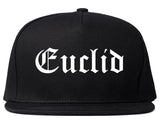 Euclid Ohio OH Old English Mens Snapback Hat Black
