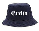 Euclid Ohio OH Old English Mens Bucket Hat Navy Blue