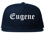 Eugene Oregon OR Old English Mens Snapback Hat Navy Blue