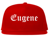 Eugene Oregon OR Old English Mens Snapback Hat Red