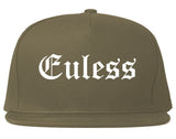 Euless Texas TX Old English Mens Snapback Hat Grey