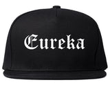 Eureka Illinois IL Old English Mens Snapback Hat Black