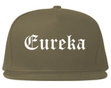 Eureka Illinois IL Old English Mens Snapback Hat Grey
