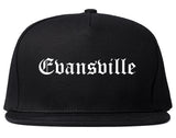 Evansville Indiana IN Old English Mens Snapback Hat Black