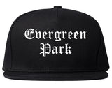 Evergreen Park Illinois IL Old English Mens Snapback Hat Black