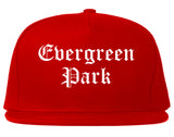 Evergreen Park Illinois IL Old English Mens Snapback Hat Red