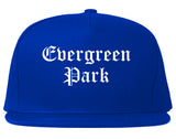 Evergreen Park Illinois IL Old English Mens Snapback Hat Royal Blue