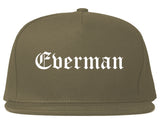 Everman Texas TX Old English Mens Snapback Hat Grey