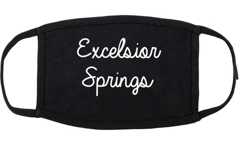 Excelsior Springs Missouri MO Script Cotton Face Mask Black