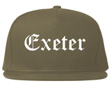 Exeter California CA Old English Mens Snapback Hat Grey