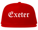 Exeter California CA Old English Mens Snapback Hat Red