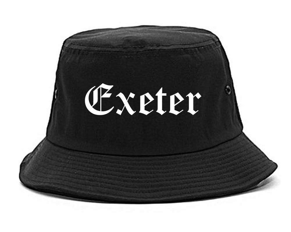 Exeter California CA Old English Mens Bucket Hat Black