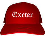 Exeter California CA Old English Mens Trucker Hat Cap Red
