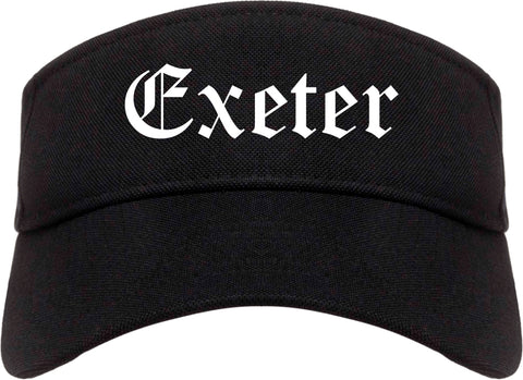 Exeter Pennsylvania PA Old English Mens Visor Cap Hat Black
