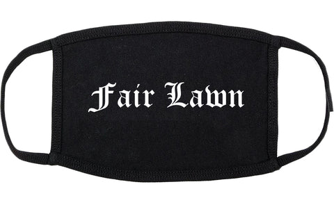 Fair Lawn New Jersey NJ Old English Cotton Face Mask Black