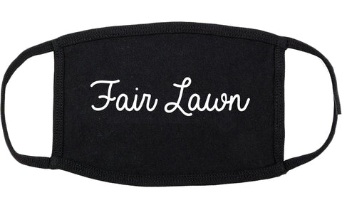 Fair Lawn New Jersey NJ Script Cotton Face Mask Black