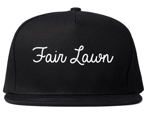 Fair Lawn New Jersey NJ Script Mens Snapback Hat Black