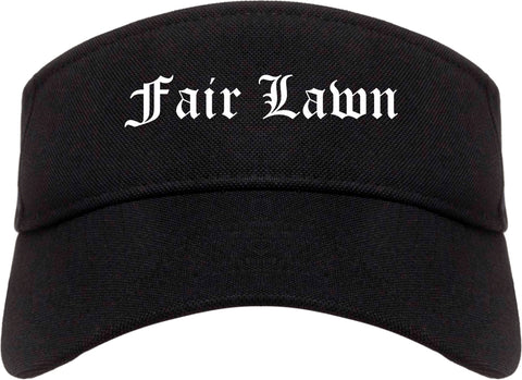 Fair Lawn New Jersey NJ Old English Mens Visor Cap Hat Black