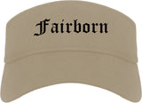 Fairborn Ohio OH Old English Mens Visor Cap Hat Khaki