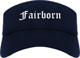 Fairborn Ohio OH Old English Mens Visor Cap Hat Navy Blue