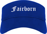 Fairborn Ohio OH Old English Mens Visor Cap Hat Royal Blue