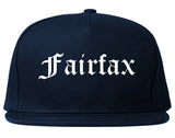 Fairfax Virginia VA Old English Mens Snapback Hat Navy Blue