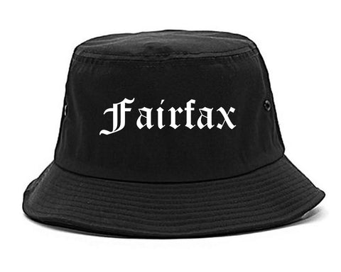 Fairfax Virginia VA Old English Mens Bucket Hat Black