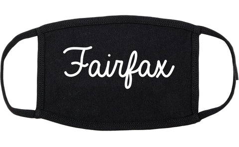 Fairfax Virginia VA Script Cotton Face Mask Black