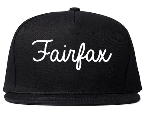 Fairfax Virginia VA Script Mens Snapback Hat Black