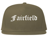 Fairfield California CA Old English Mens Snapback Hat Grey