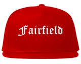 Fairfield California CA Old English Mens Snapback Hat Red