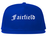 Fairfield California CA Old English Mens Snapback Hat Royal Blue