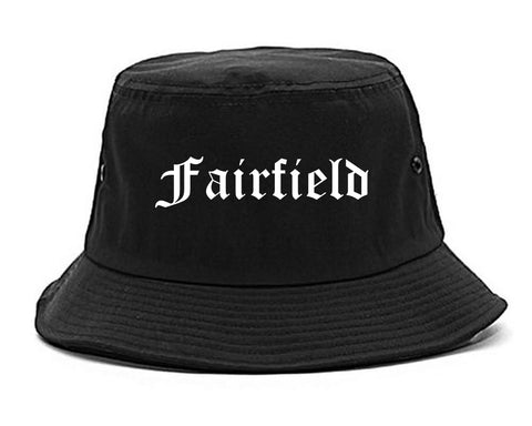 Fairfield Illinois IL Old English Mens Bucket Hat Black