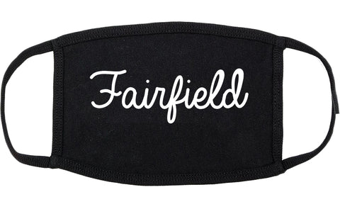 Fairfield Illinois IL Script Cotton Face Mask Black