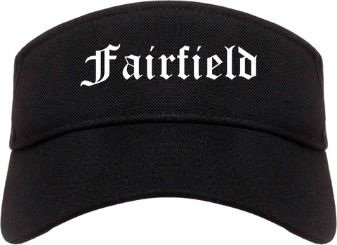 Fairfield Illinois IL Old English Mens Visor Cap Hat Black