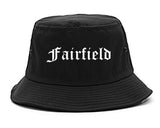 Fairfield Iowa IA Old English Mens Bucket Hat Black