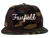 Fairfield Ohio OH Script Mens Snapback Hat Army Camo