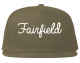 Fairfield Ohio OH Script Mens Snapback Hat Grey