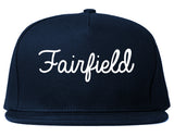 Fairfield Ohio OH Script Mens Snapback Hat Navy Blue