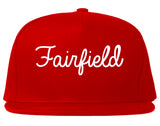 Fairfield Ohio OH Script Mens Snapback Hat Red