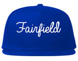Fairfield Ohio OH Script Mens Snapback Hat Royal Blue