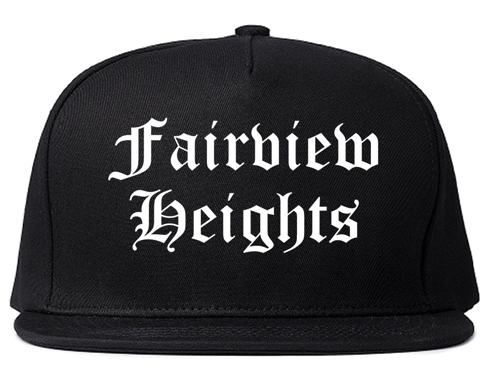 Fairview Heights Illinois IL Old English Mens Snapback Hat Black