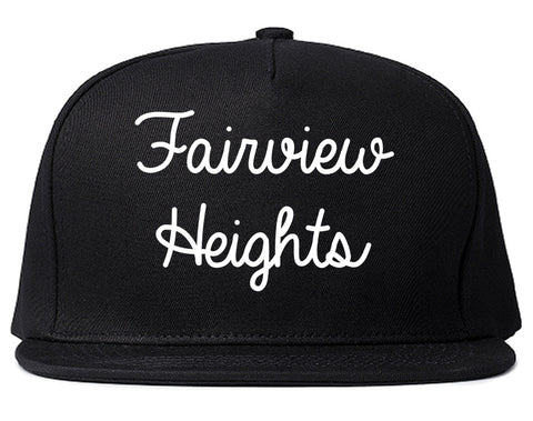 Fairview Heights Illinois IL Script Mens Snapback Hat Black