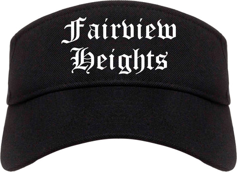 Fairview Heights Illinois IL Old English Mens Visor Cap Hat Black