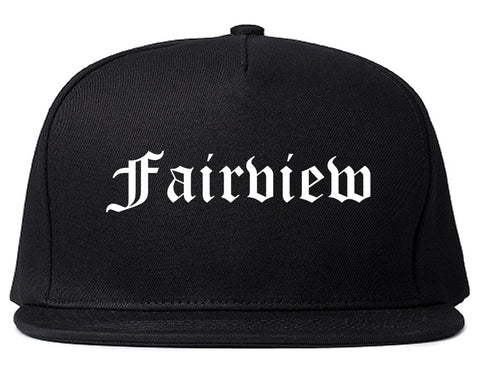 Fairview New Jersey NJ Old English Mens Snapback Hat Black